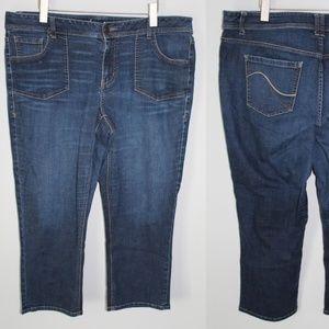 Lane Bryant Genius Fit Denim Capri Jeans HW4594